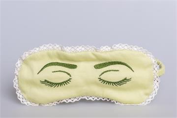 """Augenmaske: """"Schlafaugen"""" - Augenmaske Auge grün"""
