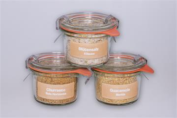 Salzmischungen Amerika: Churrasco-Guacamolesalz-Blütensalz