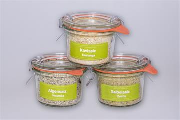 Salzmischungen Australien: Salbeisalz-Algensalz-Kiwisalz
